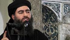 Главарь террористической группировки Исламское государство Абу Бакр аль-Багдади