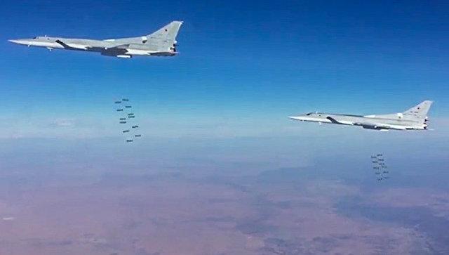 Бомбардировщики-ракетоносцы ВКС РФ Ту-22МЗ