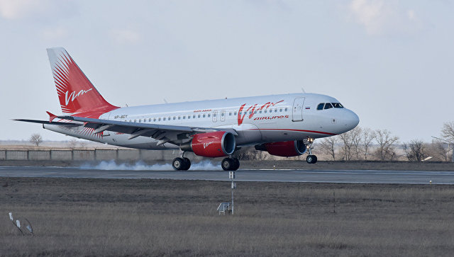 Приземление самолета в аэропорту Симферополь