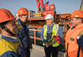Женщины на строительстве моста через Керченский пролив. Ольга Денисова, машинист крана, Санкт-Петербург
