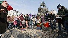 Марш феминисток в Киеве. 8 марта 2017 года