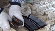 На окраине Евпатории был найден схрон с оружием