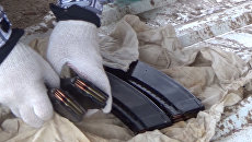 На окраине Евпатории нашли схрон с оружием