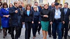 Вице-премьер правительства РФ Ольга Голодец посетила с рабочим визитом Евпаторию