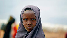 Сомалийская девушка в лагере ООН на востоке Кении. Архивное фото