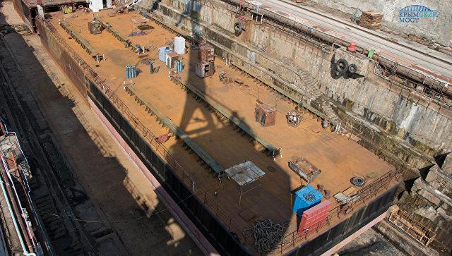 Севморзавод выполняет заказ для строительства моста через Керченский пролив