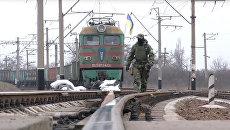Захваченный радикалами поезд в Донецкой области. 14 марта 2017 года