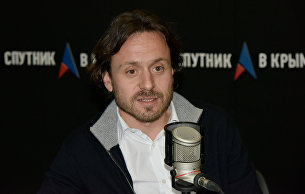 Директор Международного детского центра Артек Алексей Каспржак в студии радио Спутник в Крыму