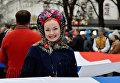 """Праздничные мероприятия в Симферополе, посвященные третьей годовщине """"Крымской весны""""."""