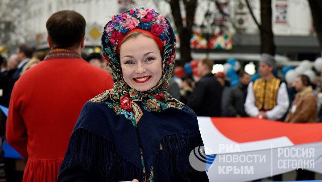 Праздничные мероприятия в Симферополе, посвященные третьей годовщине Крымской весны.