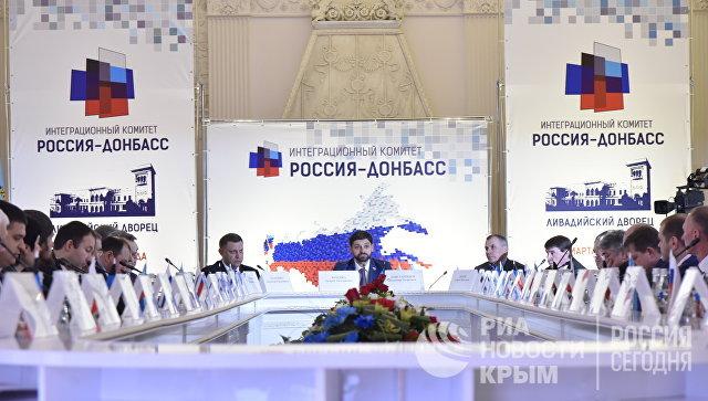 Захарченко иПлотницкий прибыли вКрым напразднование годовщины «Крымской весны»