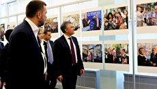 Выставка Крымская весна в честь годовщины возвращения полуострова в состав России, организованная в здании Государственной Думы