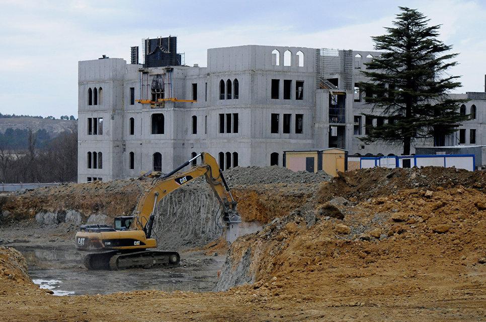 Строительство комплекса зданий Соборной мечети в Симферополе