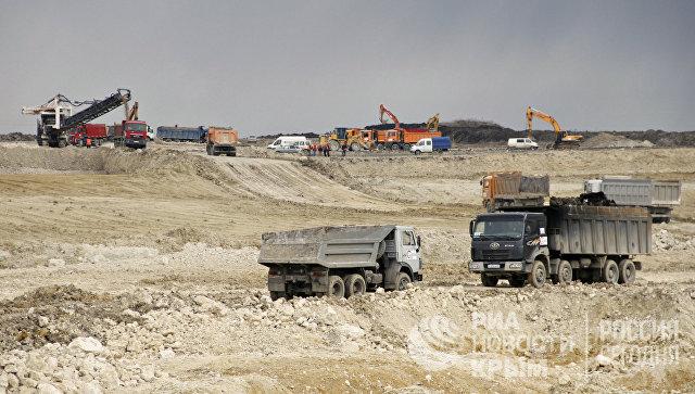 Строительство дороги Дубки-Левадки