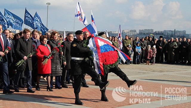 Севастополь празднует годовщину воссоединения сРоссией