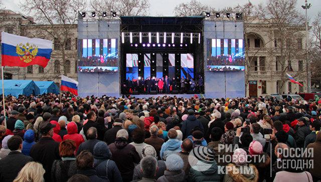 В Севастополе прошел концерт в честь годовщины воссоединения Крыма с Россией