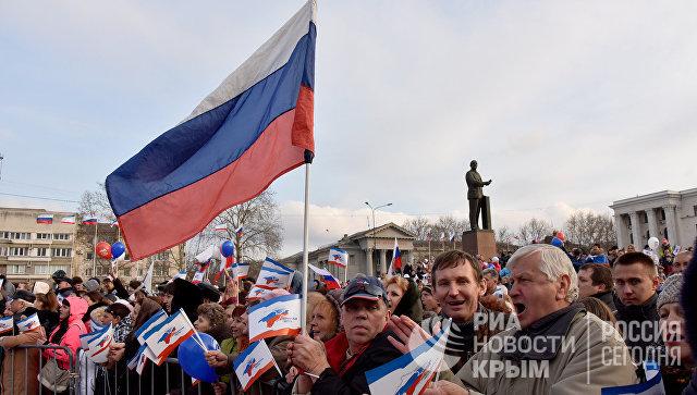 В Симферополе состоялся концерт в честь третьей годовщины воссоединения Крыма с Россией