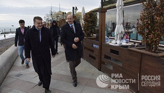 Члены делегации иностранных депутатов посетили Ялту. 19 марта 2017 года