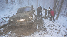 Эвакуация туристов из горно-лесной зоны в районе г. Бойка, Бахчисарай