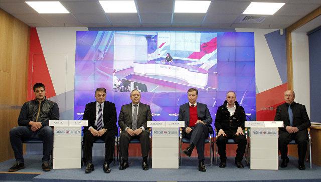 Пресс-конференция в формате видеомоста, посвященная итогам официального визита в Крым депутатов Европарламента и национальных парламентов ряда зарубежных стран