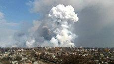 Пожар на складе с боеприпасами в Балаклее в Харьковской области