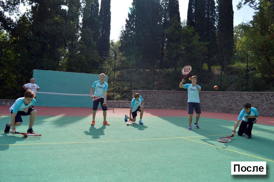 Теннисный корт после реконструкции.
