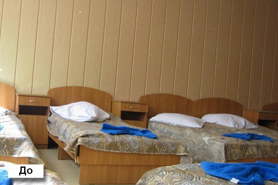 Спальня лагеря Озерный до реконструкции.