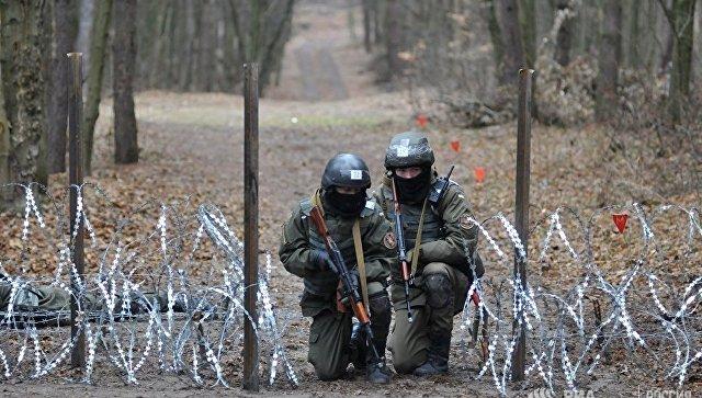 Военнослужащие Нацгвардии Украины во время обучения по методике НАТО