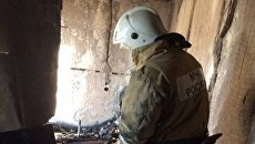 Пожар в пятиэтажном доме в поселке Вольное Джанкойского района