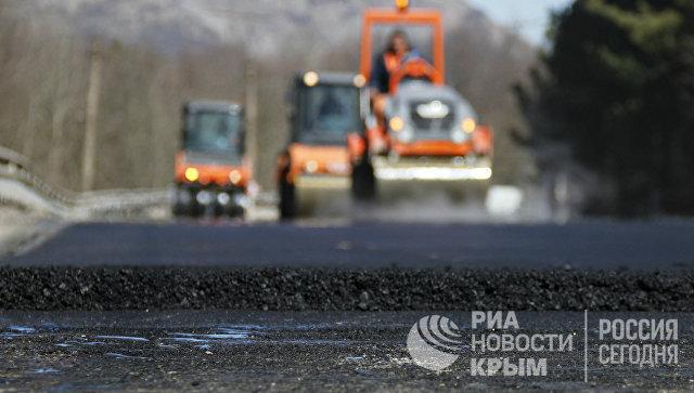 Ремонт на трассе Симферополь-Алушта-Ялта