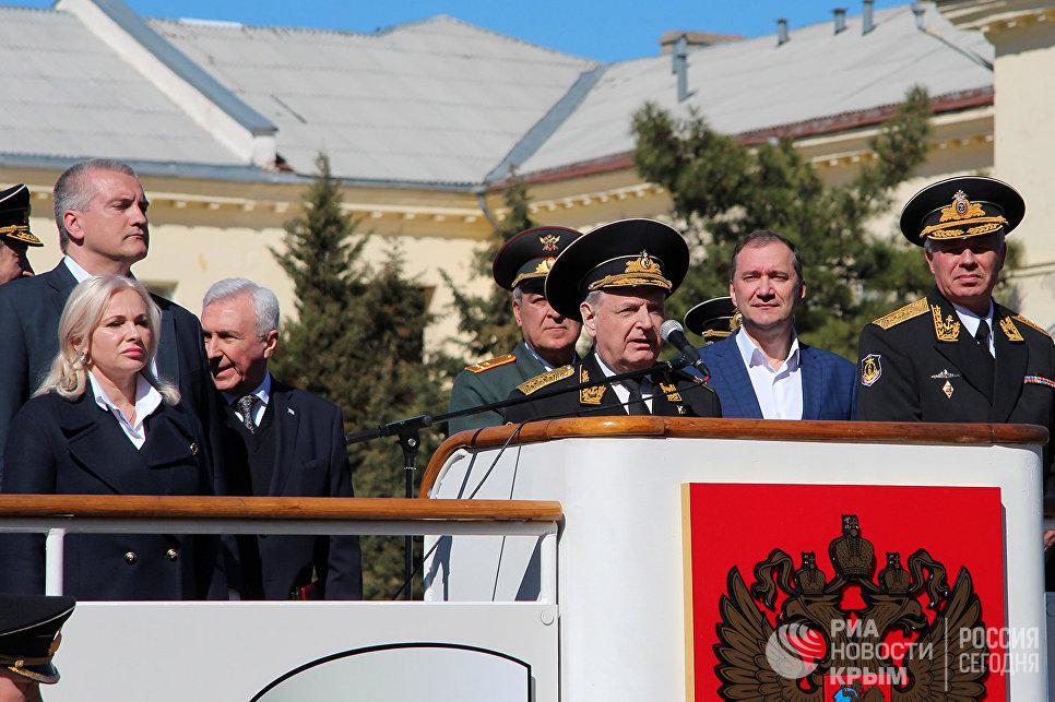Торжественные мероприятия в честь 80-летия Черноморского высшего военно-морского училища им. П.Нахимова