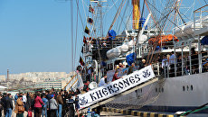 День открытого трапа в честь 28-летия со дня закладки парусного учебного судна Херсонес