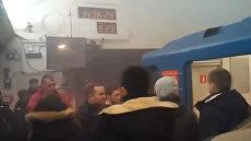 Первые кадры с места взрыва в метро Санкт-Петербурга