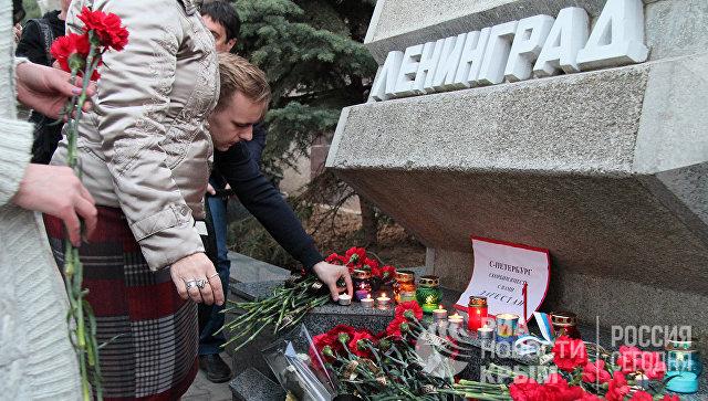 Акция памяти в Севастополе в связи с трагическими событиями в Санкт-Петербурге