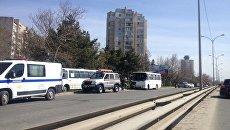 ДТП на улице Киевской в Симферополе с участием двух автобусов