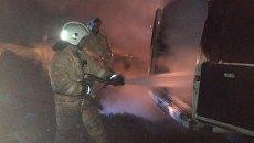 В селе Почтовое Бахчисарайского района сгорела газель