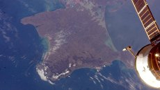 Снимок крымского полуострова из космоса
