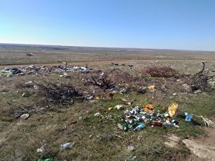 Свалка в селе Калиновка Черноморского района