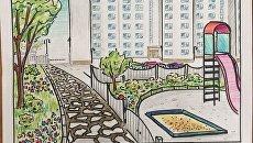 Эскиз проектного решения по благоустройству городской среды в Крыму