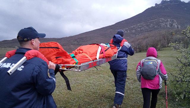 Спасение туристки в районе горы Южная Демерджи