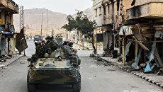 Саперы Международного противоминного центра Вооруженных сил РФ разминируют жилые кварталы Пальмиры