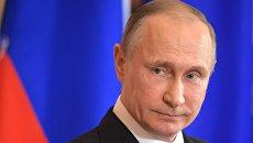 Рабочая встреча президента РФ В. Путина с президентом Италии С. Маттареллой