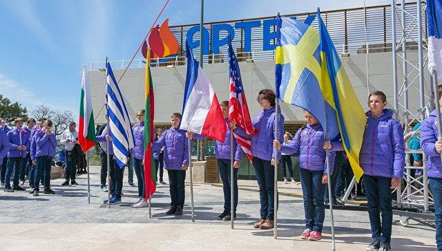 Участники международной смены Роскосмоса Первая космическая. Спутник-60 в Артеке
