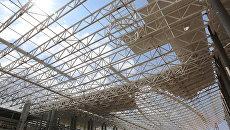 Строители приступили к устройству кровли нового терминала аэропорта Симферополь