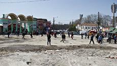 Центральный рынок Симферополя после сноса незаконных торговых объектов