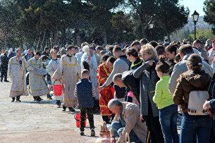 Празднование Пасхи на территории заповедника Херсонес Таврический