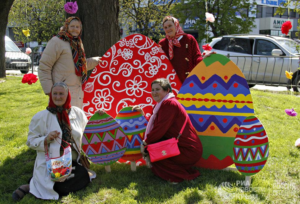 Празднование Пасхи в Симферополе