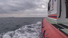 В Черном море и на береговой линии идут поиски моряков с затонувшего в Черном море сухогруза
