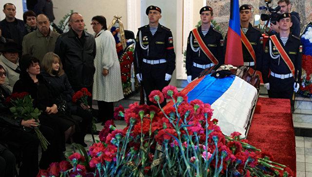 Прощание в Севастополе с погибшим в Сирии майором Сергеем Бордовым