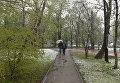 Симферополь в снегу. 23 апреля 2017